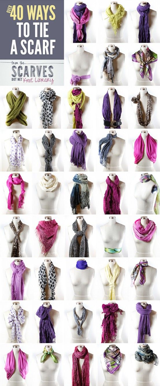 ways to tie scarves scarvesdotnet Ways Tie Scarves Women